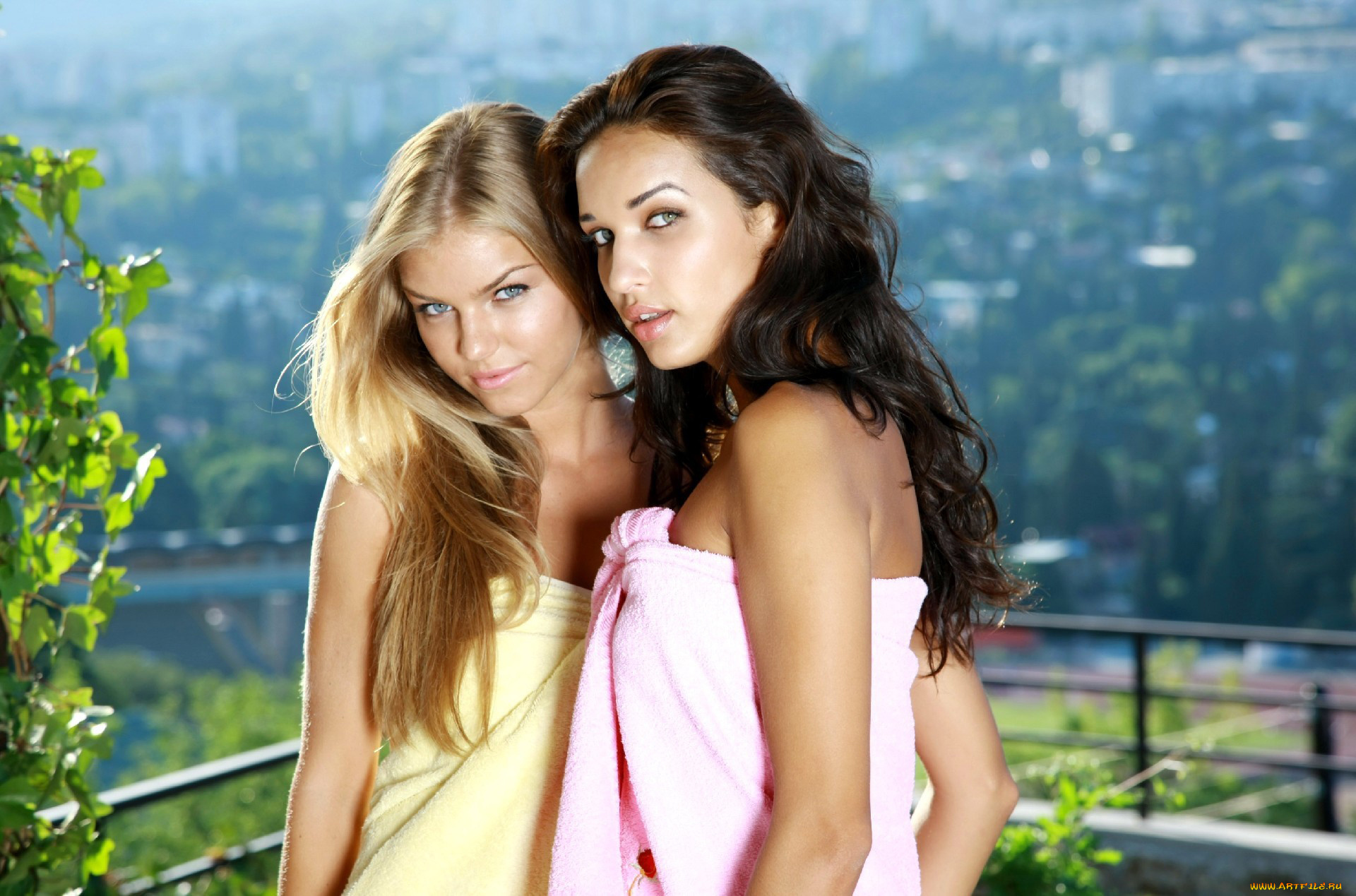 Картинка две девушки брюнетки