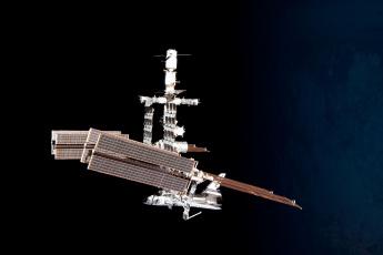 Картинка космос космические корабли станции станция мир