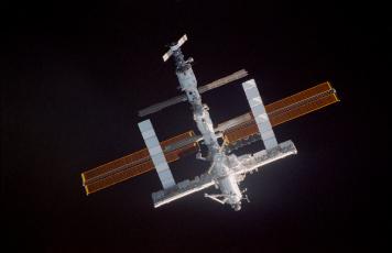 Картинка космос космические корабли станции мир станция