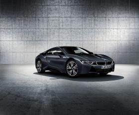 Картинка автомобили bmw i8 protonic dark silver edition i12 2016г