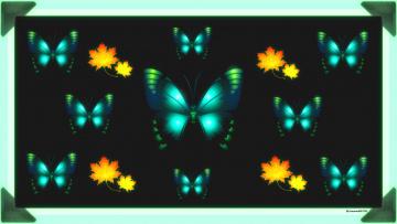 обоя векторная графика, животные , animals, бабочки, фон