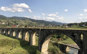 обоя города, - мосты, украина, мост, ворохта, карпаты