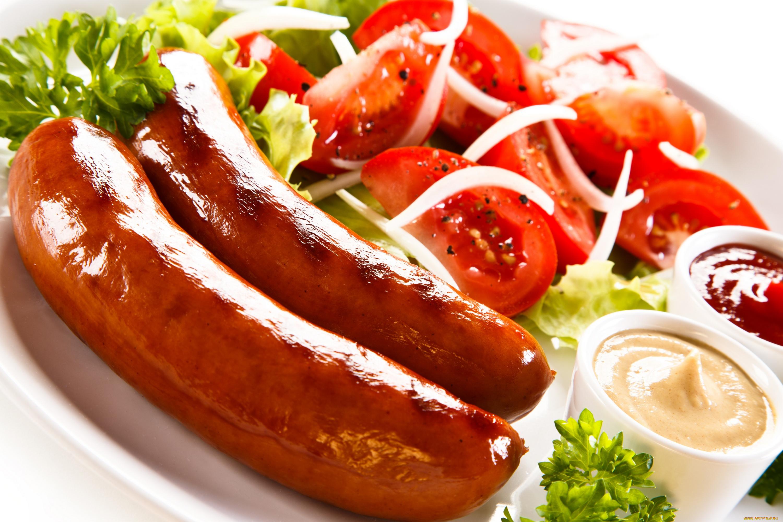 Колбаски гриль помидоры без смс