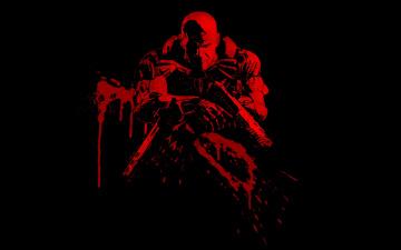 Картинка рисованные минимализм солдат оружие