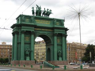 обоя санкт- петербург, города, санкт-петербург,  петергоф , россия, нарвские, ворота, санкт-, петербург, триумфальная, арка