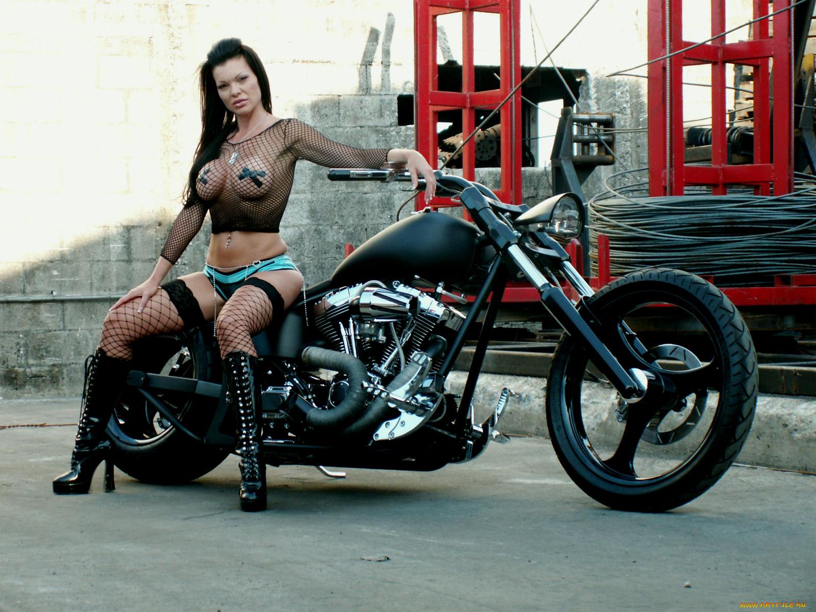 Biker Chick With Big Tits