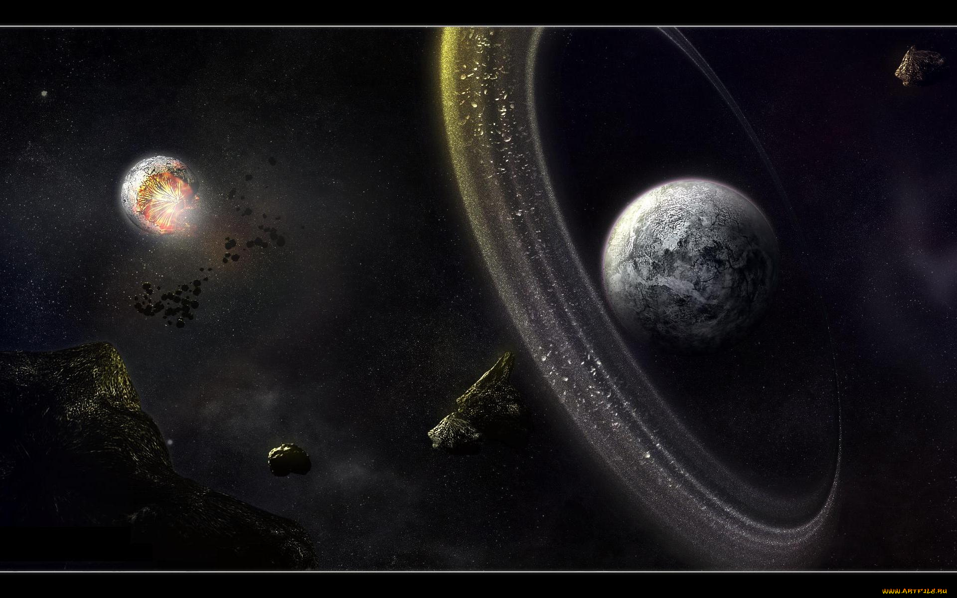 asteroid planet game - HD 1680×1050