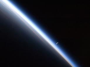 Картинка космос земля планета атмосфера луна