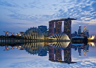 Картинка singapore города сингапур отражение
