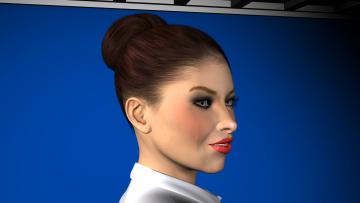 Картинка 3д+графика portraits+ портрет лицо девушка