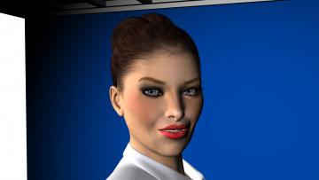Картинка 3д+графика portraits+ портрет взгляд девушка