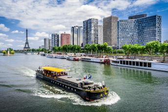обоя корабли, баржи, удно, река, город