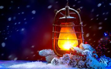 Картинка праздничные -+разное+ новый+год клонка фонарь пламя реколта сняг светлина лампа бор twig vintage snow light lamp pine tree lantern flame merry christmas happy new year holiday decoration