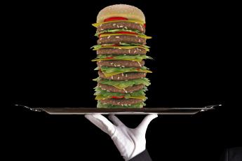 Картинка рисованное еда супер бургер стиль дворецкий
