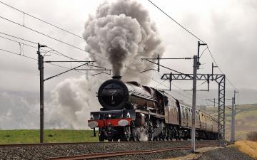 Картинка техника паровозы железная дорога поезд паровоз