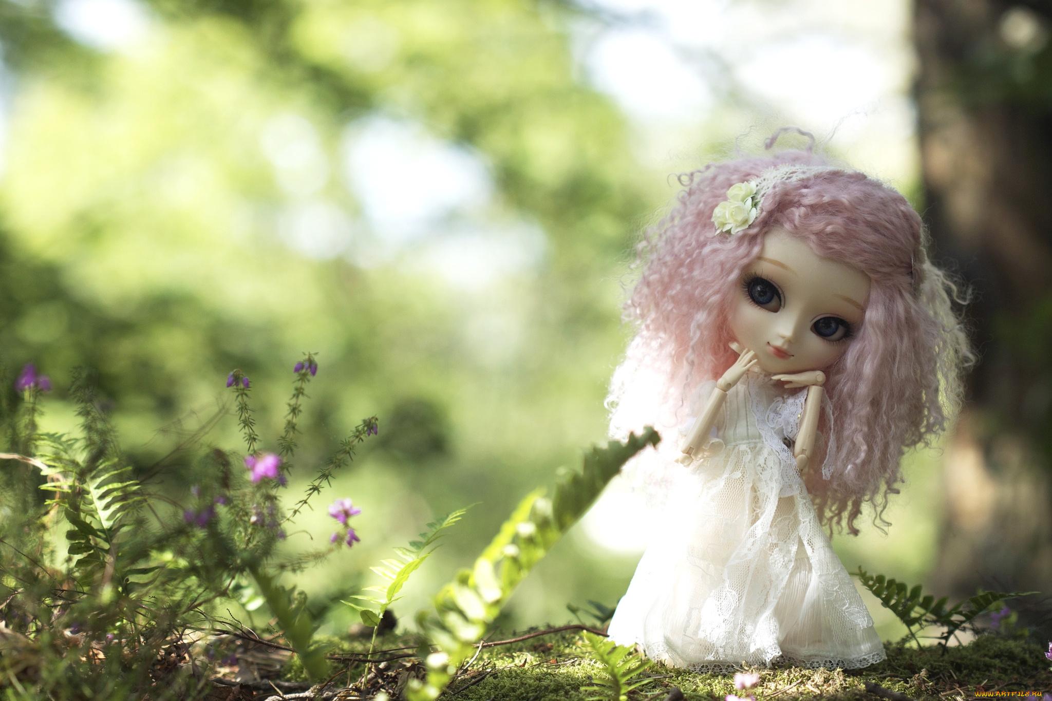 природа цветы кукла игрушка nature flowers doll toy бесплатно