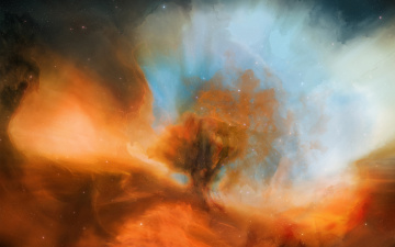 Картинка космос __ облако туманность звезды