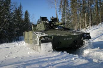 Картинка техника военная+техника cv-9030 боевая машина пехоты лес снег