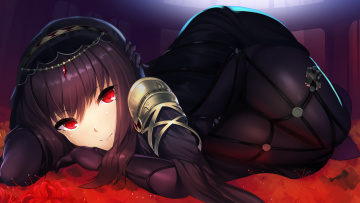 обоя аниме, fate, stay night, scathach