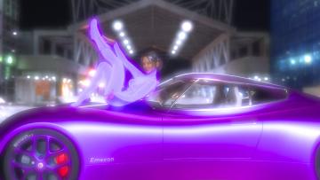 обоя рисованное, люди, взгляд, девушка, автомобиль, фон