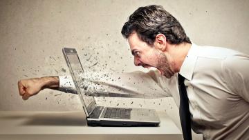 обоя юмор и приколы, мужчина, злость, ноутбук