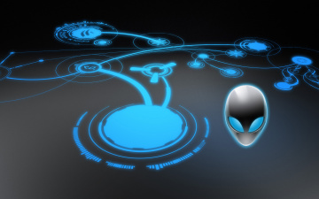 обоя компьютеры, alienware, фон, логотип