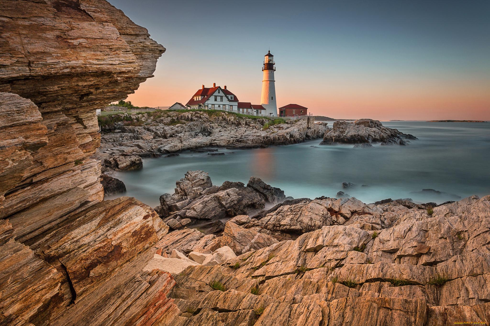 природа маяк море скалы  № 2238491 загрузить