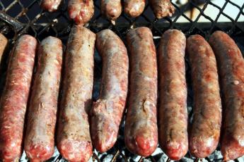обоя еда, колбасные изделия, колбаски, гриль
