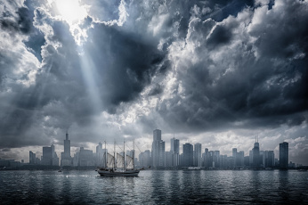 обоя корабли, парусники, chicago, Чикаго, сша, парусник