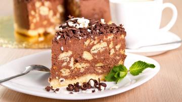 обоя еда, торты, мята, шоколад