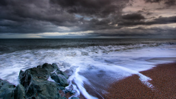 обоя природа, побережье, море, берег, закат