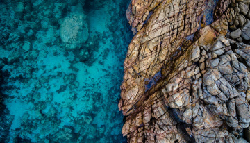 обоя природа, побережье, берег, обрыв, море, скала