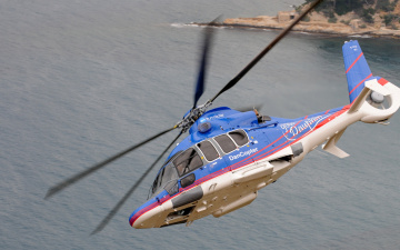 Картинка еврокоптер авиация вертолёты вертолет полет крен