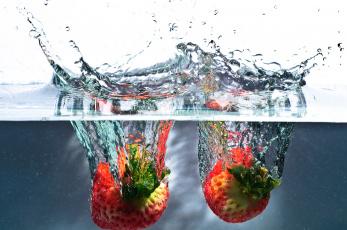 Картинка еда клубника +земляника water strawberry