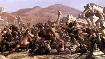 Картинка битва фэнтези люди амазонки