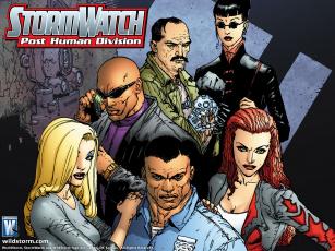 обоя stormwatch, рисованные, комиксы