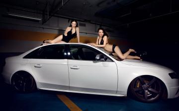 Картинка автомобили авто девушками азиатки девушки автомобиль