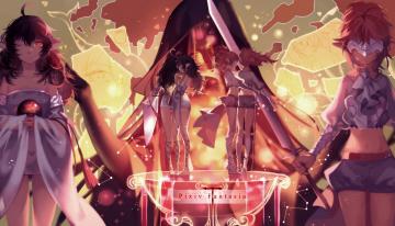 Картинка аниме pixiv+fantasia эльфы оружие девушки арт joseph lee pixiv fantasia