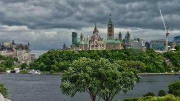 обоя parlamento otawa, города, оттава , канада, архетектура