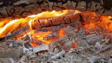Картинка природа огонь дрова очаг пламя