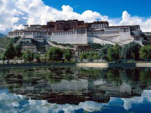 Картинка города дворцы замки крепости potala+palace lhasa tibet