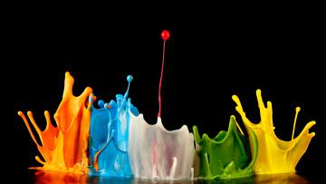 Картинка разное капли +брызги +всплески всплески цвета краска брызги