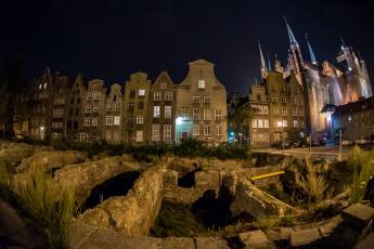 Картинка gdansk города гданьск+ польша ночь свет