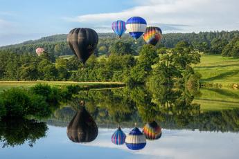 обоя авиация, воздушные шары, аэростаты