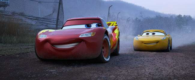 Обои картинки фото мультфильмы, cars 3, автомобиль, фон