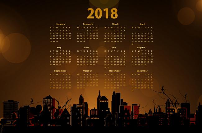 Обои картинки фото календари, рисованные,  векторная графика, ночь, город