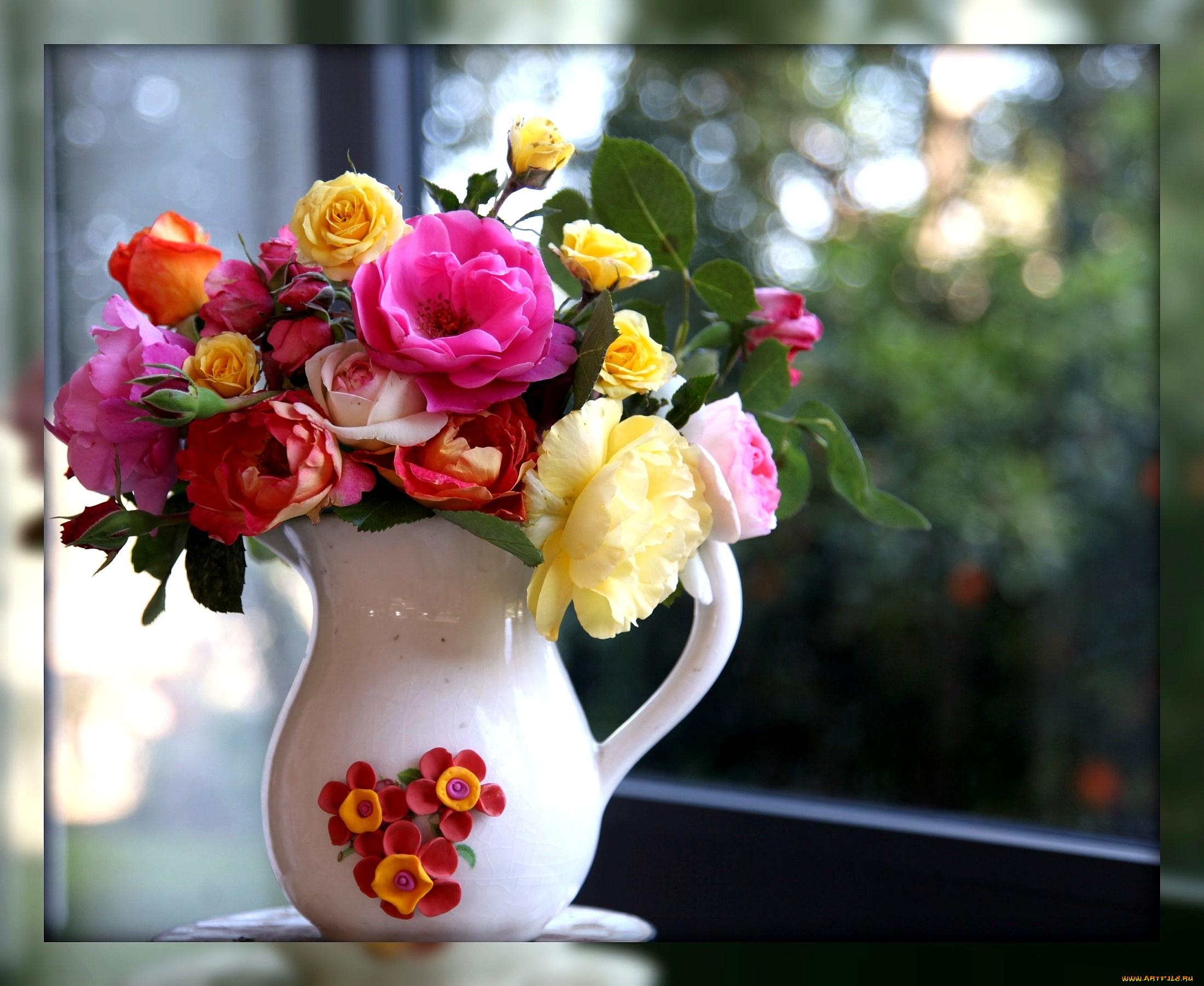 Картинка букет цветов в вазе, которые