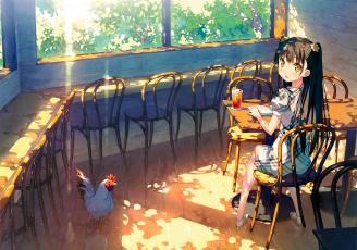 Картинка аниме kantoku+ artbook кафе девочка