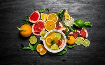 обоя еда, цитрусы, лайм, мандарин, mandarin, грейпфрут, напиток, фреш, lime, drink