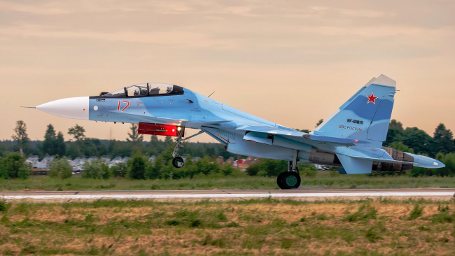 Обои картинки фото авиация, боевые самолёты, су-30